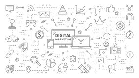 Animation de vente de Digital illustration stock
