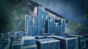 Animation de ville banque de vidéos