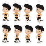 Animation de walkcycle d'enfant Photos stock