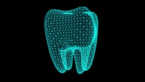 Animation dentaire de rayon X illustration de vecteur