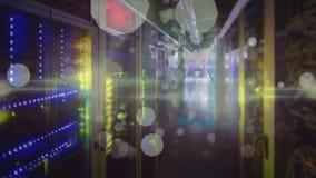 Animation der Datenbank und des Computerservers stock abbildung