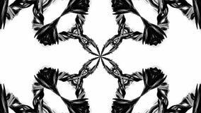 Animation der Schleife 4k mit Schwarzweiss-Bändern verdrehen und bilden komplexe Strukturen als kaleidoskopischer Effekt 9 lizenzfreie abbildung