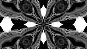 Animation der Schleife 4k mit Schwarzweiss-Bändern verdrehen und bilden komplexe Strukturen als kaleidoskopischer Effekt 31 lizenzfreie abbildung