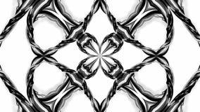 Animation der Schleife 4k mit Schwarzweiss-Bändern verdrehen und bilden komplexe Strukturen als kaleidoskopischer Effekt 17 vektor abbildung