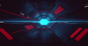 Animation der Sciencefiction 4K eines Raumtunnels stock video footage