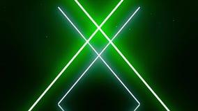 Animation des lignes au néon de croisement Mouvements synchrones illustration de vecteur