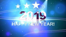 Animation des neuen Jahres der hohen Qualität 2019 lizenzfreie abbildung