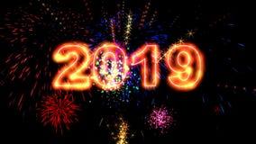Animation des neuen Jahres der hohen Qualität 2019 stock footage