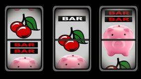 Animation des Spielautomaten lizenzfreie abbildung