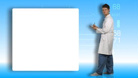 Animation of a doctor writing a prescription Royalty Free Stock Image