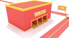 Animation drôle de station de lavage banque de vidéos