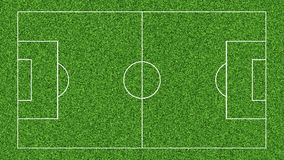 Animation of drawing the lines on the soccer football field on green grass