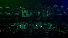 """Animation du cyberespace avec """"fait le texte à Singapour """" illustration de vecteur"""
