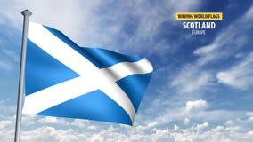 animation du drapeau 3D de l'Ecosse illustration libre de droits