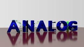Animation du mot analogique-numérique sur le fond blanc illustration de vecteur