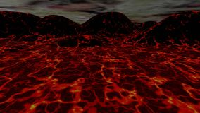 Animation du paysage 3D de lave illustration libre de droits