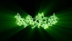 Animation du réseau vert de plexus transformant au texte arabe au néon - joignez-nous illustration de vecteur
