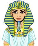 Animation Egyptian Pharaoh Royalty Free Stock Photo