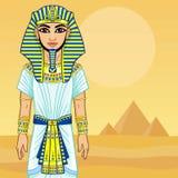Animation Egyptian Pharaoh. Royalty Free Stock Photography