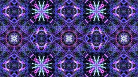 Animation einer kaleidoskopischen Mandala stock footage
