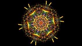 Animation einer kaleidoskopischen Mandala vektor abbildung