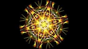 Animation einer kaleidoskopischen Mandala lizenzfreie abbildung