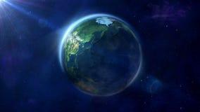 Animation faite une boucle de la terre clips vidéos