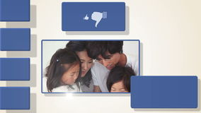 Animation of family videos Royalty Free Stock Image