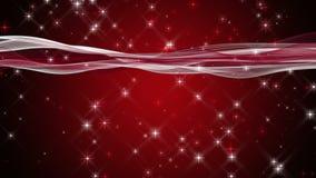Animation fantastique de Noël avec des vagues et des étoiles dans le mouvement lent, 4096x2304 boucle 4K banque de vidéos