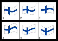 Animation Finnish flag Royalty Free Stock Images