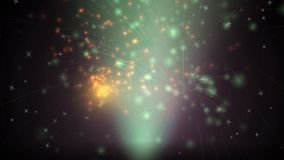 Animation of a Fireworks stock video