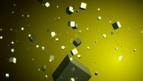 Animation of Flowing Cubes stock video