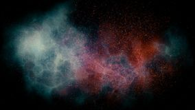 Animation of flying through glowing nebulae and stars. 3d rendering. Abstract animation of camera flying through glowing nebulae and stars. 3d rendering royalty free illustration