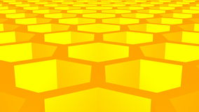 Animation of fragment of honeycomb with full cells in bright sunlight. stock footage
