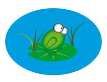 Animation frog Royalty Free Stock Photos
