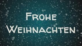 Animation Frohe Weihnachten.Animation Frohe Weihnachten Merry Christmas In German Falling Snow Blue Background
