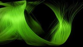 Animation futuriste avec l'objet de rayure de particules et la lumière, HD 1080p illustration libre de droits