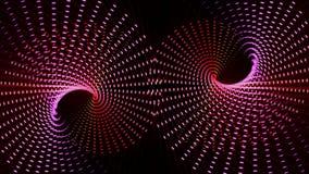 Animation futuriste avec l'objet mobile de particules, boucle HD 1080p illustration libre de droits