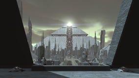 Animation of a futuristic city