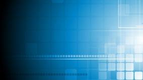 Animation géométrique bleue de vidéo de technologie