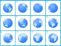 Animation Globe rotating Royalty Free Stock Photos
