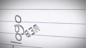 Animation of graphic design terms stock footage