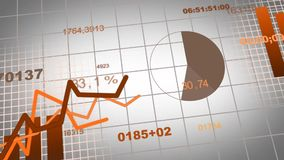 Animation of growing charts - brown. Animation of growing charts - design in brown stock illustration