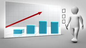 Animation of growing graph Stock Photography