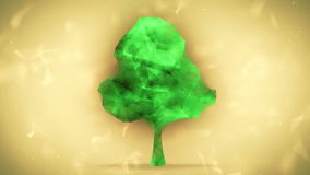 Animation of a growing network tree. stock footage