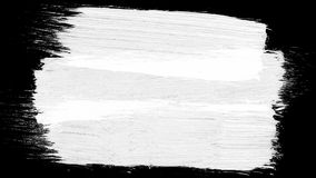 Animation grunge - brush stroke on a white background. Abstract hand - painted element. Grunge brush strokes animation. Ink splash on black background Royalty Free Stock Photography