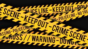 Police line, crime scene tape background clip stock video
