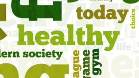 Animation of healthy lifestyle related words Stock Image