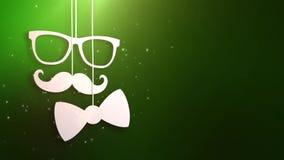 Animation heureuse de fond de vert de fête des pères illustration libre de droits