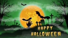 Animation heureuse de Halloween illustration stock